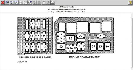 12900_fuse_brake_1 1993 toyota corolla brake llights electrical problem 1993 toyota 1998 toyota corolla fuse box diagram at soozxer.org