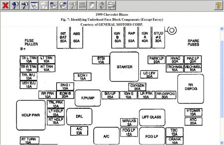 no power to fuel pump six cylinder four wheel drive automatic 150 wiring diagram for 2000 chevy s10 pick up see fuel pump relay below www 2carpros com forum automotive_pictures 12900_fuse_pump_fuse_1