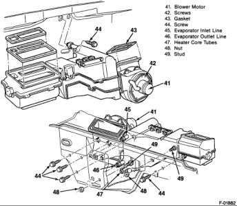 Gmc Sierra 1990 Gmc Sierra Pictorial Diagram Of Heater Core Removal on 2001 jeep wrangler blower motor resistor location