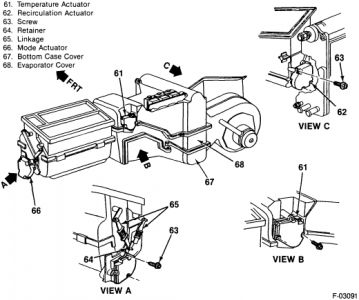Gmc Sierra 1990 Gmc Sierra Pictorial Diagram Of Heater Core Removal on chevy silverado steering column