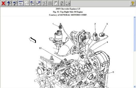 Chevy Equinox Vacuum Diagram together with T25331410 Get heater hose routing diagram 2002 besides Oldsmobile 3 5 Liter Engine furthermore Chevy Hhr Camshaft Position Sensor Location besides 2006 Chevy Equinox Serpentine Belt Diagram. on chevrolet colorado
