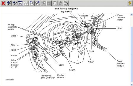 T3390223 Need diagram schematics fuse panel 1988 further Mercury Villager 1996 Mercury Villager Reset Switch also Fuse Box Diagram For 2000 Ford Windstar besides 1995 Mercury Villager Fuse Box Diagram also 1996 Nissan Quest Wiring Diagram Electrical System Troubleshooting. on 1997 mercury villager fuse panel location