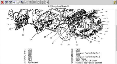 1984 Honda Accord Fuel Pump Location likewise Mercury Marquis 1995 Mercury Marquis Fuel Safety Switch moreover 01 Mercury Grand Marquis Wiring Diagram likewise  on replacing grand marquis fuel pump