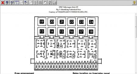 Fuse Box Diagram: Jetta2 Cli Fuse Box Diagram  Vw Jetta Fuse Box Diagram on