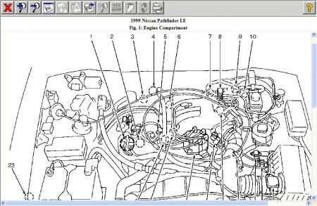 1999 nissan pathfinder engine diagram  1999  free engine