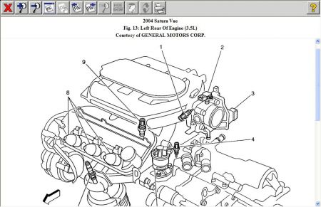 2004 saturn vue knock sensor computer problem 2004 saturn vue 6 the ks is at no 9 see below