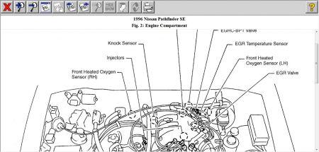 1996 nissan pathfinder knock sensor how do i locate and replace 2000 nissan pathfinder oil filter www 2carpros com forum automotive_pictures 12900_ks_27