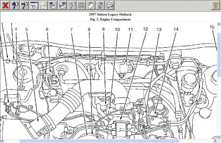 2000 subaru forester exhaust diagram with 2000 Subaru Outback Engine Diagram on 2000 Toyota Solara Engine Diagram in addition How To Take A Transmission Out Of 1998 Subaru Forester together with Suba18 also Subaru Alternator Wiring Harness in addition 2000 Subaru Outback Engine Diagram.