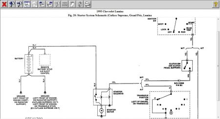 1993 chevy lumina wiring diagram for the starter rh 2carpros com 1997 chevy lumina wiring diagram chevrolet lumina wiring diagram