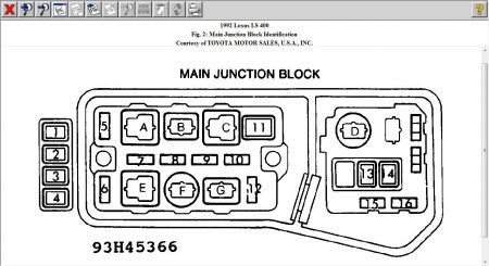 Main Fuse on 1992 lexus sc400 wiring diagram