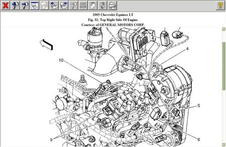 Hellcat Engine Diagram in addition Duratec 3 0 Engine Diagram together with RepairGuideContent also Serpentine Belt Diagrams Chevrolet Caprice additionally Acadia Fuse Box Location. on 2004 chevy aveo belt routing diagram