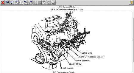 Chevrolet Knock Sensor Location 2006