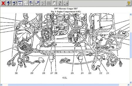 1999 mercury cougar engine diagram diy wiring diagrams u2022 rh dancesalsa co 1999 Cougar Motor Mount 3 0 Mercury Villager Engine Diagram