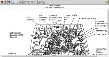 2001 Mazda Millenia Engine Diagram likewise Mazda B3000 1996 Mazda B3000 Oil Pressure likewise Ford 4 6 Timing Chain Noise also 2002 Nissan Pathfinder Parts Catalog further P 0996b43f80cb0eaf. on 2004 mazda 6 interior fuse box diagram