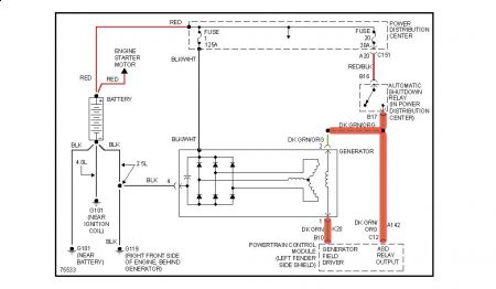 chrysler one wire alternator conversion diagram one wire