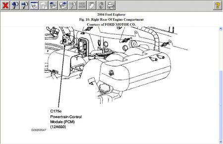 The Engine On 2002 Mercury Mountaineer Egr Valve Location additionally 1994 Ford F 150 Engine  partment Diagram likewise 97 F150 Heater Wiring Diagram in addition 1991 Mercury Grand Marquis Fuse Box Diagram likewise 2000 Ford F 150 Coolant Temperature Sensor Location. on free automotive wiring diagrams 1998 ford explorer