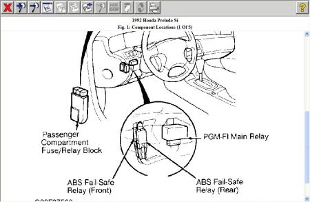 honda prelude fuel pump relay electrical problem honda the pgm fi main relay also powers the fuel pump located behind left side of dash above clutch pedal bracket