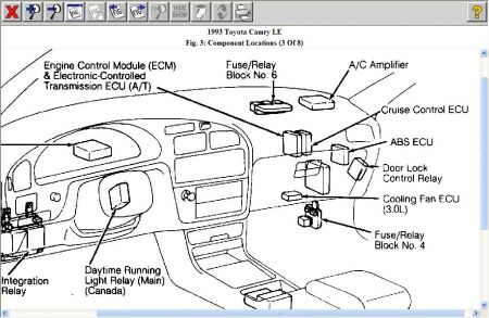 1993 Toyota Camry Fuse Panel Location on 1993 ford aerostar fuse box diagram