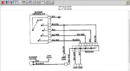 Resistor on 1987 Mazda B2200 Wiring Diagram