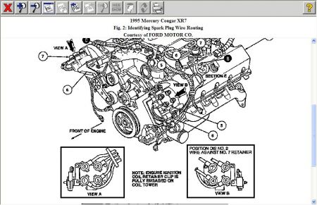 1995 mercury cougar firing order i have a 4 6 liter engine and i Spark Plugs Replacement 2carpros forum automotive pictures 12900 spark plug wiring 1