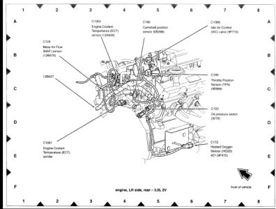 throttle wiring diagram with Ford Taurus 2003 Ford Taurus 107 on Where Is The Crank Sensor On A 1998 Chevy Silverado 1500 Truck 827358 together with 460 7 5 1994 Ford Engine Diagram moreover Nissan Vq35de Engine Parts Diagrams moreover 1963 Lincoln Continental Wiring Diagram furthermore 3xx6g 2001 Jeep Cherokee Horn Cruise Control Does Not Work.