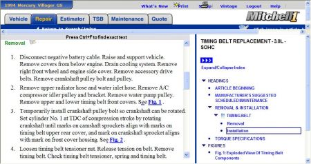 1994 Mercury Villager Timing: How to Set the Timing Belt