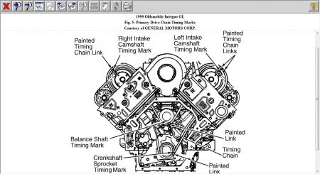 oldsmobile intrigue timing chain marks engine mechanical 1 reply