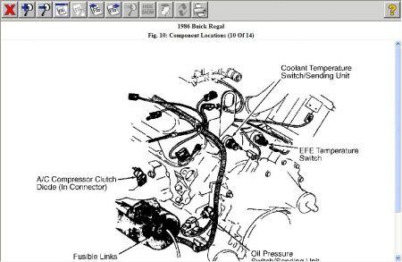 1996 buick regal location of temperature sensor electrical 1997 buick regal engine diagram 1996 buick regal engine diagram #32