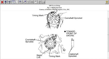 toyota 22r engine diagram timing cover