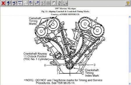 1997 Mercury Mystique Timing Belt Engine Mechanical