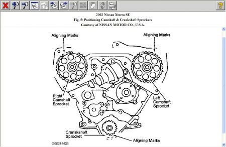 timingcoverpatern01xterra further 12900 timing belt 4 further 2011 09 16 162216 cam lobe location also 2011 02 03 213446 distributor alingment as well 2012 03 14 163407 a1 in addition Chevrolet Chevy Van 5 7 1994 12 additionally 2010 11 15 154712 1 also d33b35db614f93640f79d7053b6fd423 together with 3J00D22U additionally  on nissan xterra timing belt diagram datsun se i
