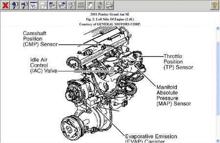 Pontiac Grand Am O2 Sensor Location