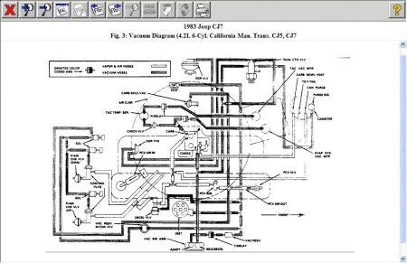 1983 cj7 vacuum line diagram 1983 jeep cj7 vacum hoses: need diagram of where vacum ... 1983 cj7 wiring harness diagram