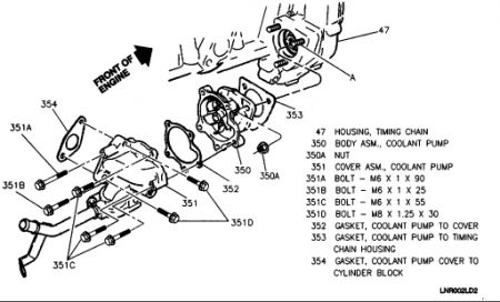 Buick Skylark 1994 Buick Skylark Water Pump Removal on 1969 buick skylark engine diagram