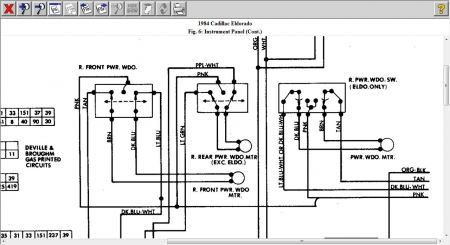 Window on power window switch wiring diagram