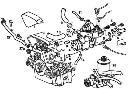 mercedes benz engine coolant with Mercedes Benz 280 1995 Mercedes Benz 280 Water Pump on Mercedes Benz C320 2002 Mercedes Benz C320 moreover 2001 Volvo S80 Radiator Diagram besides Wiring Diagram 2000 Dodge Sel 3500 likewise Isuzu Hombre Wiring Diagram besides 42 Draft Designs Stainless Steel Coolant Pipe For Vw 12v Vr6 Brushed Finish 42 130 001.