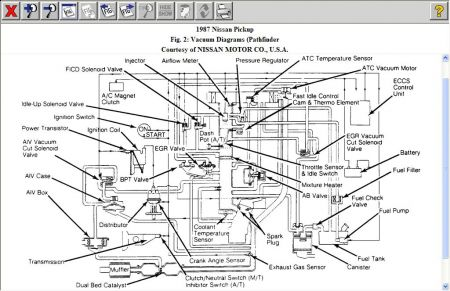 12900_z24_1 vacuum diagram for a z24 four cylinder two wheel drive manual 180 1987 nissan pathfinder wiring diagram at bayanpartner.co