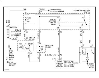 1999 plymouth voyager starter: no power to small wire at ... plymouth alarm wiring diagram