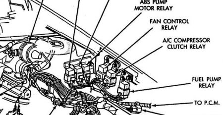 Image 13 Plymouth Acclaim fuel Pump Relay 3 on 1990 plymouth voyager diagram