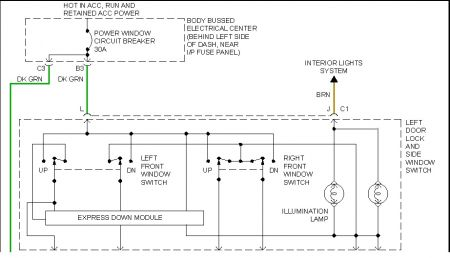 slidding blazer power window wiring diagram 1998 chevy blazer power window switch (driver side)