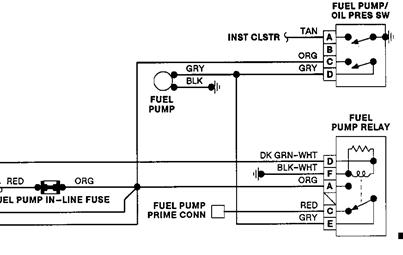 Fuel Pump Relay Has No Power At Fuel Pump Relay The Relay Coil