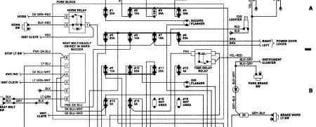 170934_dakota_fuse_block_1 no headlights, taillights, or brake light electrical problem 6 1996 dodge dakota headlight switch wiring diagram at mifinder.co