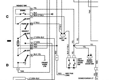 1989 dodge dakota no headlights taillights or brake light when you were replacing the headlamp switch did you check for voltage at the red wire b1 in the diagram that circuit is hot all the time voltage comes