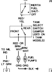 1992 Ford Mustang Inertia Switch