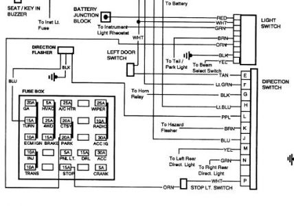Gmc Sierra 1990 Gmc Sierra Vechical Electrical Problem on gm headlight switch wiring diagram