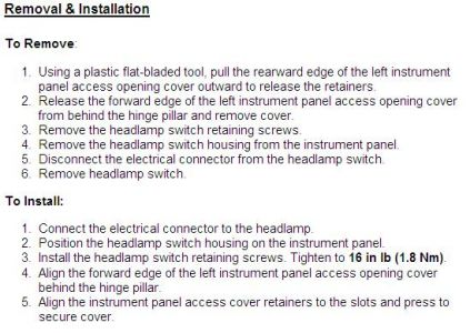 Http Www 2carpros Forum Automotive Pictures 170934 Headlamp Switch Removal 1