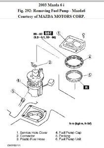 2003 mazda 6 fuel pump engine performance problem 2003. Black Bedroom Furniture Sets. Home Design Ideas