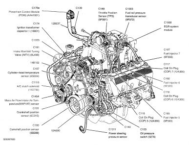 97 Ford F 150 4x4 4 6 Engine Diagram on ford f 150 cylinder head temperature sensor