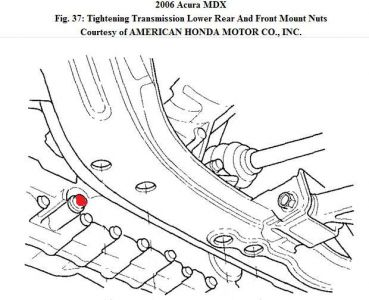 2006 Acura Mdx Changing Transmission Fluid While Attempting To. 2carpros Automotive S192750atfdrainplug06mdx 226a1. Lincoln. Lincoln Ls Transmission Dipstick Diagram At Scoala.co