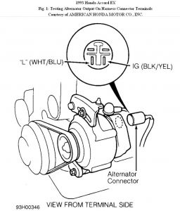 1992 Honda Accord Alternator Wiring Diagram on alternator wiring harness autozone